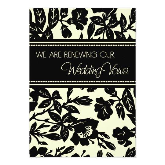 Yellow Black Wedding Vow Renewal Invitation Card