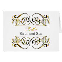yellow black & white Chic Business Thank You Cards