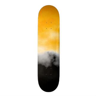 Yellow Black White Geode Slice Druzy Crystal look Custom Skate Board