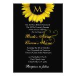 Yellow Black White Sunflower Wedding Invitation