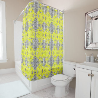Yellow And White Shower Curtains | Zazzle