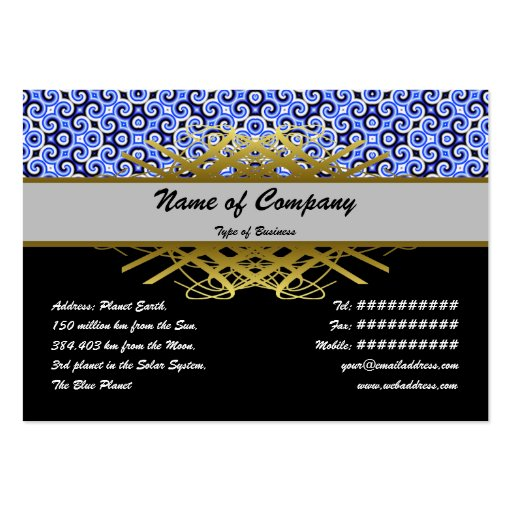 Yellow Black White Waves Inverted Small Business Cards