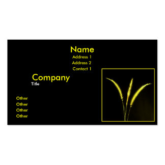 Yellow Blades Business Card