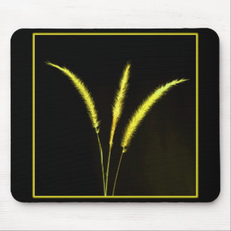 Yellow Blades Mouse Pad
