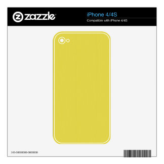 Yellow Blank Plain DIY template add text photo Decal For iPhone 4
