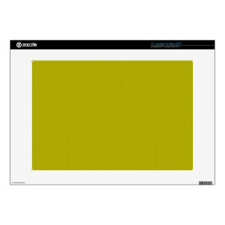 "Yellow Blank Plain DIY template add text photo Decals For 15"" Laptops"