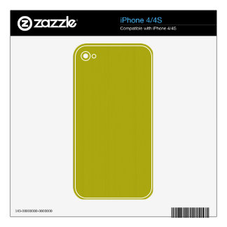 Yellow Blank Plain DIY template add text photo iPhone 4 Decals