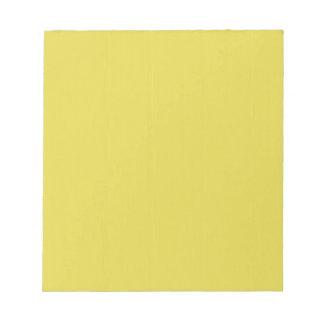 Yellow Blank Plain DIY template add text photo Notepad