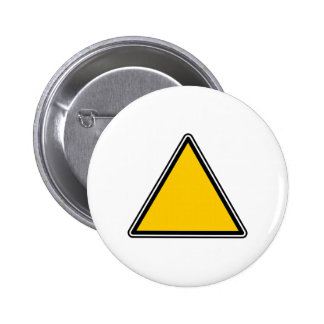 Yellow Blank Sign 2 Inch Round Button