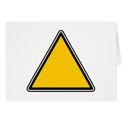 Yellow Blank Sign Greeting Card