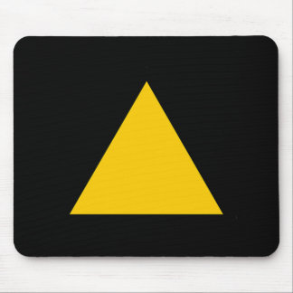 Yellow Blank Sign Mouse Pad