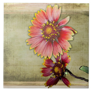 Yellow Blanket Sunflowers - Art Tile
