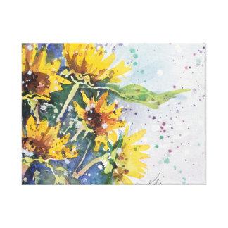 Yellow Blast -- Black Eye Susan Canvas Print