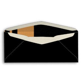 Yellow BLK Stripe Envelope