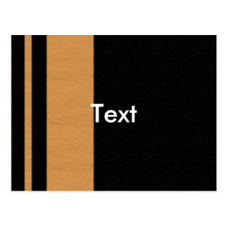 Yellow BLK Stripe Post Cards
