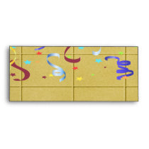 Yellow Block Confetti Party Envelope