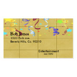 Yellow Block Confetti Party Set Business Card Templates