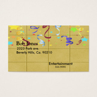Yellow Block Confetti Party Set Business Card