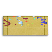 Yellow Block Confetti Party Set Envelope