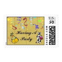 Yellow Block Confetti Party Set Postage