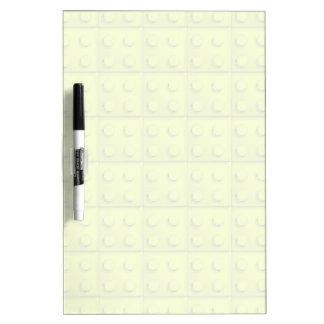 Yellow blocks pattern dry erase board