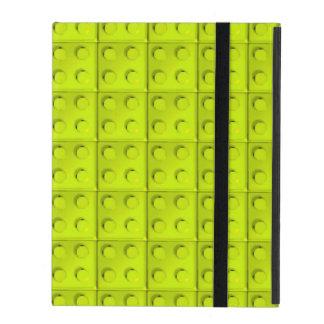 Yellow blocks pattern iPad cases