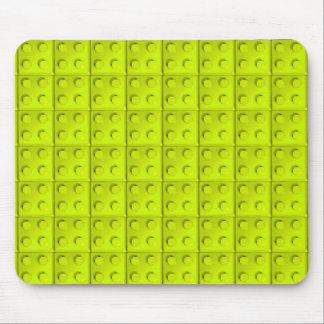 Yellow blocks pattern mouse pad