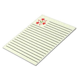 Yellow blocks pattern notepad