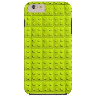 Yellow blocks pattern tough iPhone 6 plus case