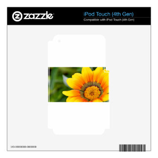 Yellow Bloom Decals For iPod Touch 4G