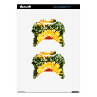 Yellow Blooms Xbox 360 Controller Skins