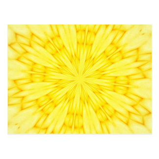 Yellow Blossom Fractal Post Card