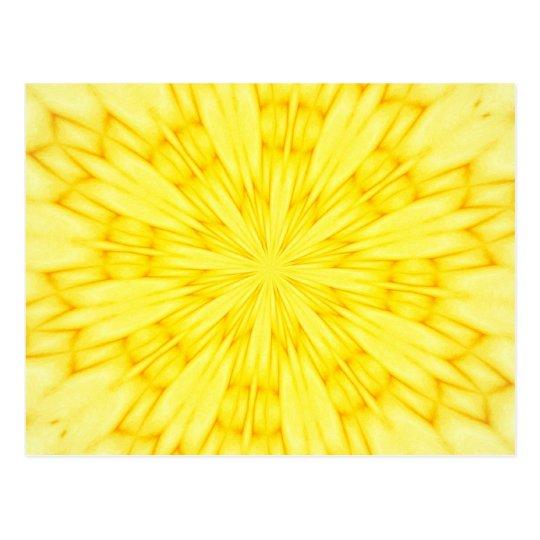 Yellow Blossom Fractal Postcard
