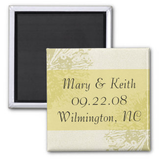 Yellow Blossom Save the Date Refrigerator Magnet