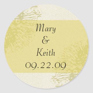 Yellow Blossom Save the Date Sticker