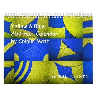 Yellow & Blue Abstract 2011 Calendar Calendars