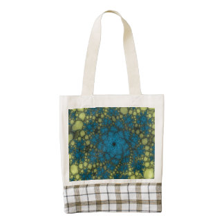Yellow Blue Abstract Abyss Zazzle HEART Tote Bag