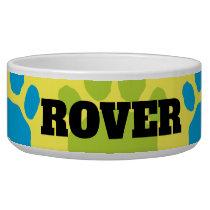 Yellow, Blue ,and Green Animal Paw Print Bowl