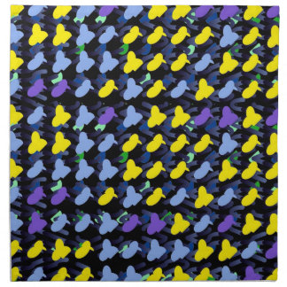Yellow Blue Birds Dinner Napkins