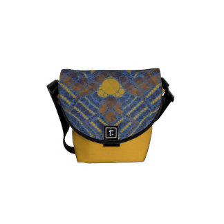 Yellow Blue Bling Abstract Courier Bag