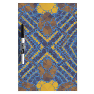 Yellow Blue Bling Abstract Dry Erase Board
