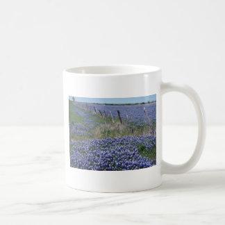 Yellow Blue bonnets flowers Coffee Mug