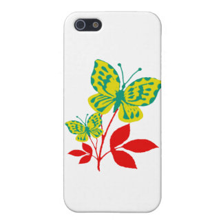Yellow & Blue Butterflies on Fall Foliage Cover For iPhone SE/5/5s