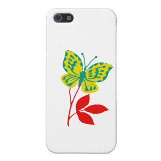 Yellow & Blue Butterfly on Fall Foliage Cover For iPhone SE/5/5s
