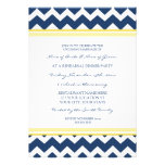 Yellow Blue Chevron Rehearsal Dinner Party Personalized Invitation