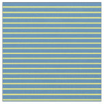 [ Thumbnail: Yellow & Blue Colored Lines Fabric ]