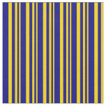 [ Thumbnail: Yellow & Blue Colored Lines Pattern Fabric ]