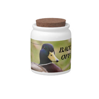 Yellow & Blue Duck Back Off Candy - Cookie Jar Candy Jars