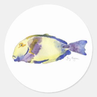 Yellow/Blue Fish Sticker