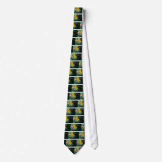 Yellow Blue Green Bird Feather Background Tie